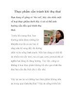 Thực phẩm cần tránh khi thụ thai pptx
