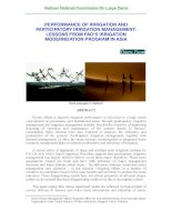 PERFORMANCE OF IRRIGATION AND PARTICIPATORY IRRIGATION MANAGEMENT: LESSONS FROM FAO'S IRRIGATION MODERNIZATION PROGRAM IN ASIA potx