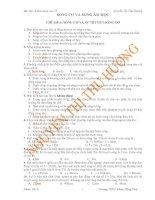 SÓNG CƠ VÀ SÓNG ÂM HỌC CHỦ ĐỀ 6: SÓNG CƠ VÀ SỰ TRUYỀN SÓNG CƠ pdf