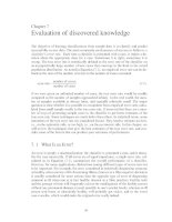 INTRODUCTION TO KNOWLEDGE DISCOVERY AND DATA MINING - CHAPTER 7 ppsx