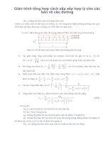 Giáo trình tổng hợp cách sắp xếp hợp lý cho các bản vẽ cầu đường phần 1 docx