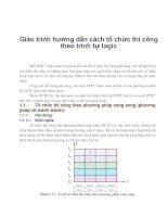 Giáo trình hướng dẫn cách tổ chức thi công theo trình tự logic phần 1 docx