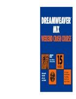 dreamweaver mx weekend crash course phần 1 pps