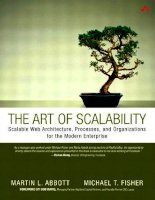 the art of scalability scalable web architecture processes and organizations for the modern enterprise phần 1 pdf