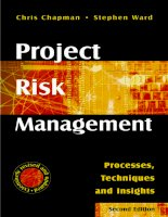 Project risk management processes techniques in sights phần 1 pps