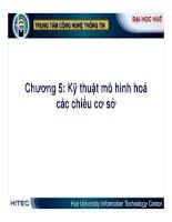 Kho dữ liệu và Hệ hỗ trợ quyết định ( Nguyễn Thanh Bình ) - Chương 5 potx