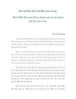 Văn hoá ẩm thực Hà Nội xưa và nay doc