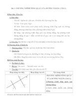 Bài 1: PHƯƠNG TRÌNH TỔNG QUÁT CỦA ĐƯỜNG THẲNG ( Tiết 1) pdf