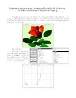 Giáo trình photoshop : Hướng dẫn thiết kế hình ảnh 3 chiều và cách pha trộn màu hợp lý phần 1 ppt