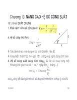 BÀI GIẢNG CUNG CẤP ĐIỆN 2 ( GV Nguyễn Quang Thuấn ) - CHƯƠNG 10 pdf