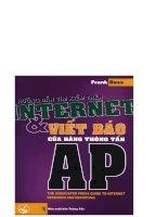 Hướng dẫn tìm kiếm trên Internet và viết báo của hãng thông tấn AP part 1 pptx