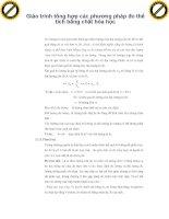 Giáo trình tổng hợp các phương pháp đo thể tích bằng chất hóa học phần 1 pps