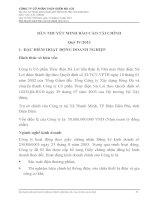công ty cổ phần thủy điện nà lơi bản thuyết minh báo cáo tài chính quý iv năm 2013 kết thúc ngày 31 tháng 12 năm 2013