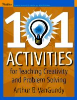 101 activities foteaching creativity and problem solving phần 1 ppsx