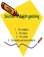 Solution to abolish gambling ppsx