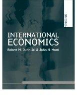 International economics 6th edition phần 1 ppt