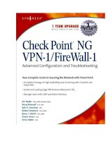 check point ng vpn 1 firewall 1 advanced configuration and troubleshooting phần 1 pptx