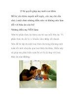 13 bí quyết giúp mẹ nuôi con khỏe pot