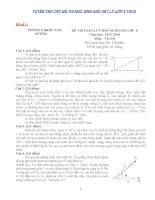 Tuyển tập các đề thi học sinh giỏi vật lý lớp 8 ( có đáp án chi tiết)