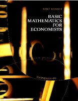 Basic Mathematics for Economists phần 1 ppt
