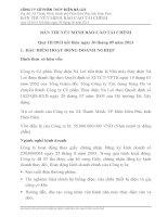 công ty cổ phần thủy điện nà lơi bản thuyết minh báo cáo tài chính quý iii năm 2013 kết thúc ngày 30 tháng 09 năm 2013