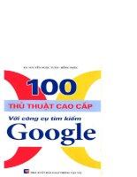 100 thủ thuật cao cấp với công cụ tìm kiếm Google part 1 ppt