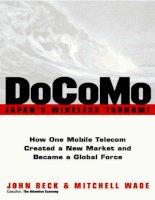 docomo japan s wireless tsunami how one mobile telecom created a new market and became a global fo phần 1 pdf