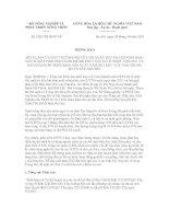 Thông báo số 5267/TB-BNN-VP potx