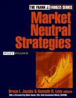 Market neutral strategies phần 1 docx