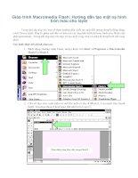 Giáo trình Macromedia Flash: Hướng dẫn tạo mặt nạ hình tròn màu cho layer phần 1 ppsx