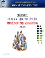 BÀI GIẢNG QUẢN LÝ HỆ THỐNG CƠ SỞ DỮ LIỆU CHAPTER 1 SQL