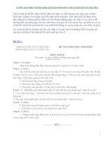 Tuyển tập 30 đề thi học sinh giỏi môn sinh học lớp 8 ( kèm đáp án chi tiết)