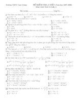 Kiểm tra trắc nghiệm giải tích 12 pps