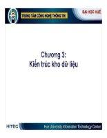 Kho dữ liệu và Hệ hỗ trợ quyết định ( Nguyễn Thanh Bình ) - Chương 3 pps