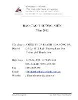 tổng công ty sông đà công ty cổ phần thanh hoa sông đà báo cáo thường niên 2012