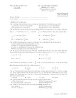 ĐỀ THI THỬ TRẮC NGHIỆM MÔN VẬT LÝ THPT - Mã đề thi 897 pdf