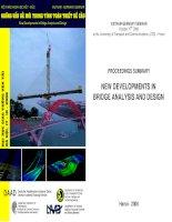 những vấn đề mới trong tinh toán thiết kế cầu -  báo cáo hội thảo khoa học việt-đức 2006