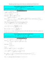 Tổng hợp hệ phương trình hay trong đề thi đại học toán những năm gần đây (tài liệu free)