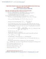 giải tích trong mặt phẳng oxy ôn thi đại học