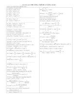 Bài tập phương trình lượng giác luyện thi đại học
