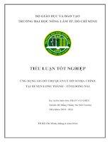 Ứng dụng GIS hỗ trợ quản lý hồ sơ địa chính tại huyện long thành  tỉnh đồng nai