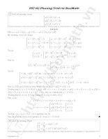 Phương pháp giải hệ phương trình trong kỳ thi tuyển sinh Đại học