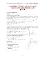 CHUYÊN đề hình học không gian về QUAN hệ VUÔNG góc  KIẾN THỨC TỔNG hợp  DẠNG bài tập lớp 11