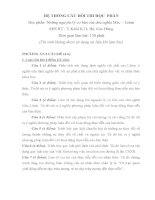 Đề thi và đáp án môn Những nguyên lí cơ bản MácLênin