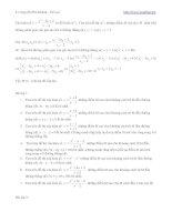 Chuyên đề khoảng cách và hàm số