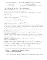 tuyển tập 70 đề thi thử đại học môn toán ( có đáp án chi tiết) của các trường THPT trên toàn quốc ( tập 1)