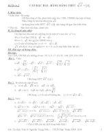 Giáo án bồi dưỡng toán học lớp 9 tự chọn tham khảo