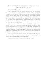 KIỂM TRA sự PHÙ hợp mô HÌNH QUÁ TRÌNH và NHẬT ký sự KIỆN BẰNG PHƯƠNG PHÁP PHÁT lại