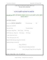 SKKN  một số biện pháp nâng cao chất lượng môn toán lớp 2