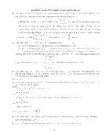 bài tập hàm số bài toán liên quan